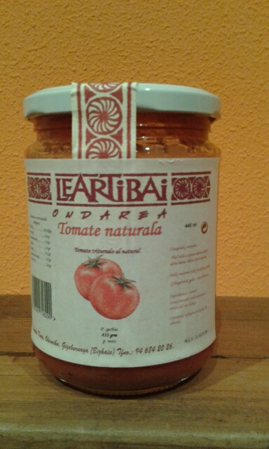 TOMATE NATURAL TRITURADO 'LEARTIBAI'