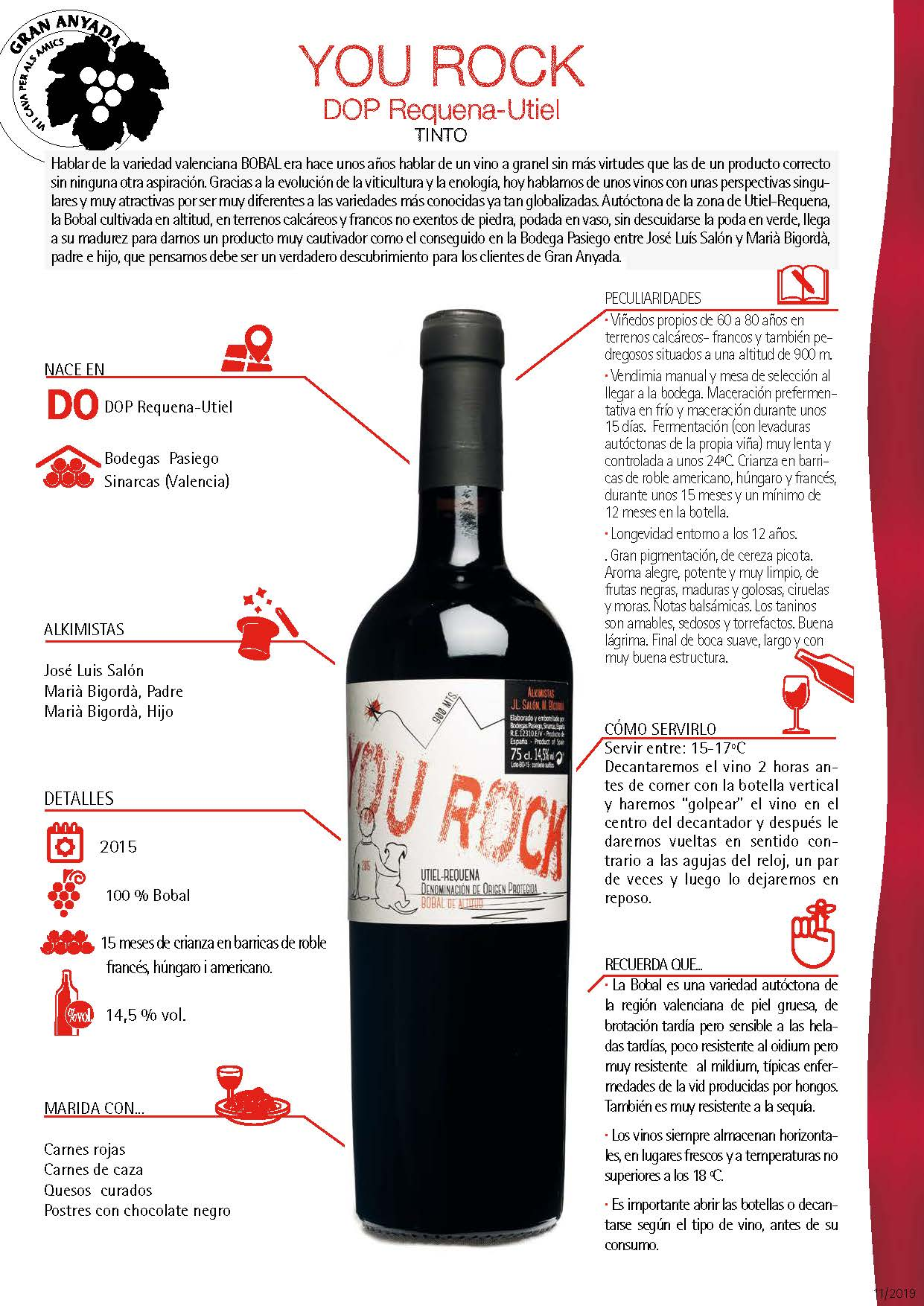 YOU ROCK DOP Requena-Utiel  tinto